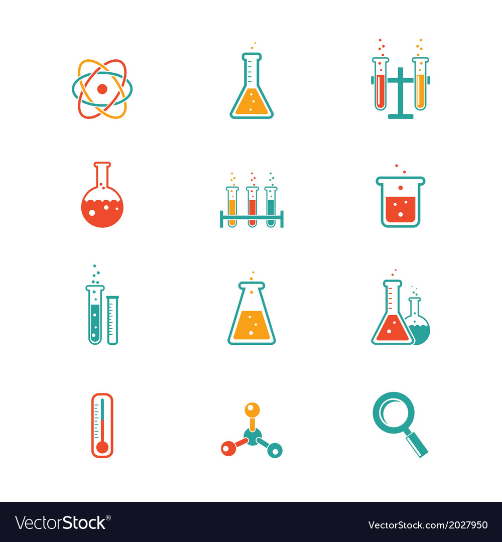 Chemistry icons vector | Price: 1 Credit (USD $1)