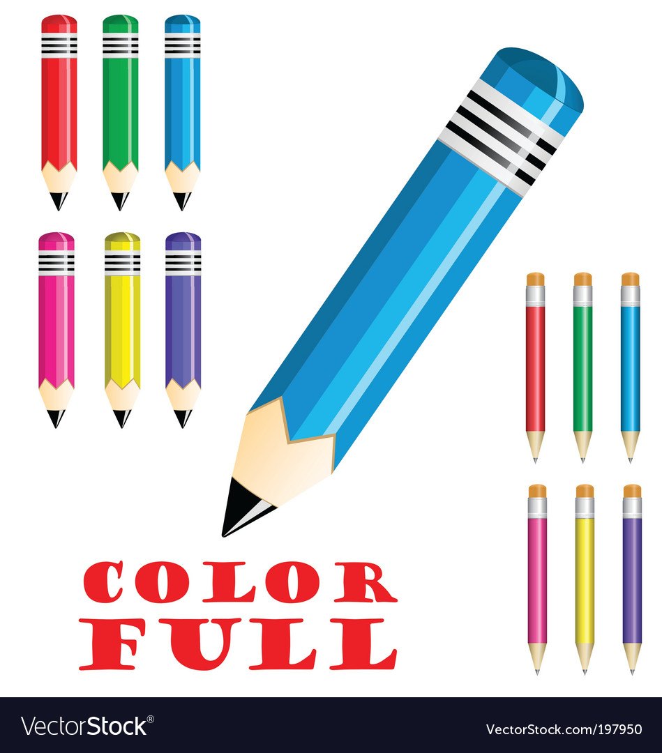 Colorful crayons vector   Price: 1 Credit (USD $1)