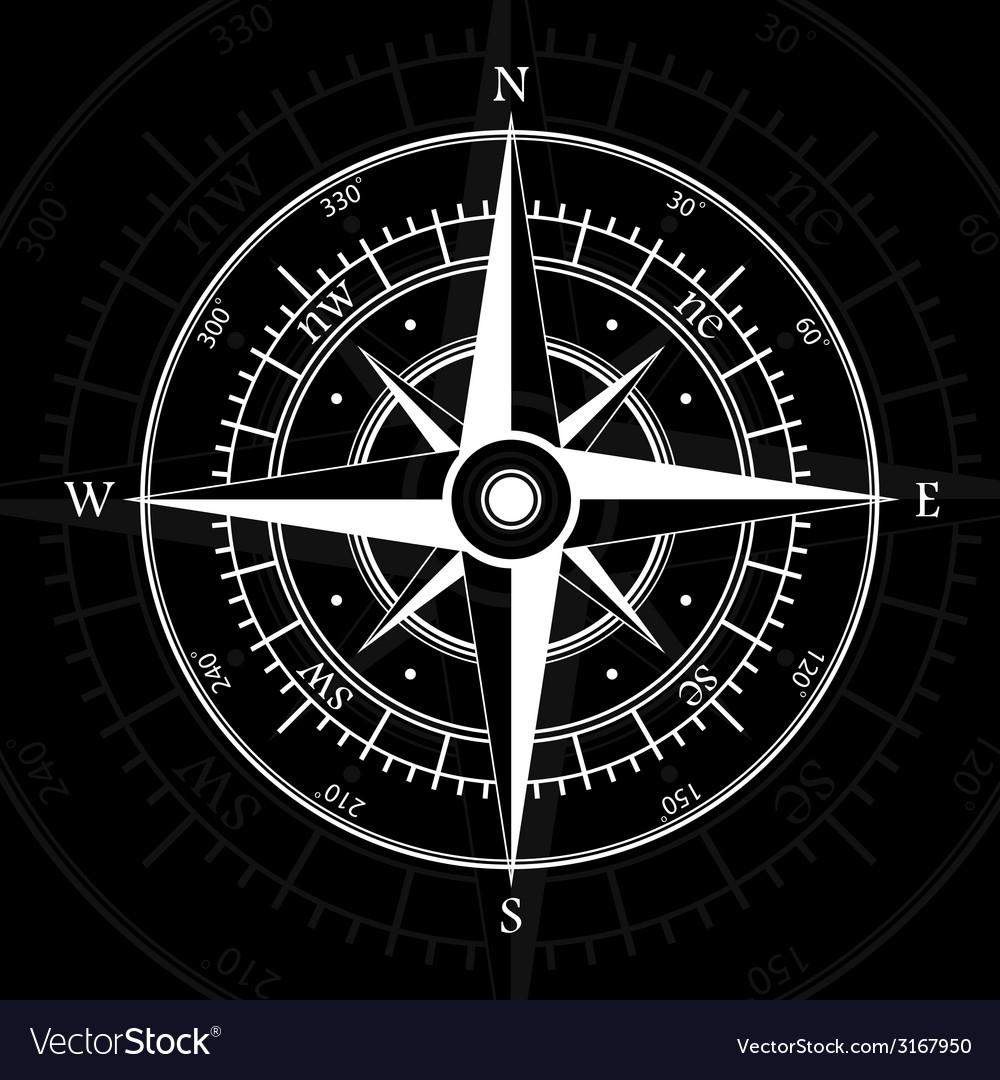 Compass black vector | Price: 1 Credit (USD $1)