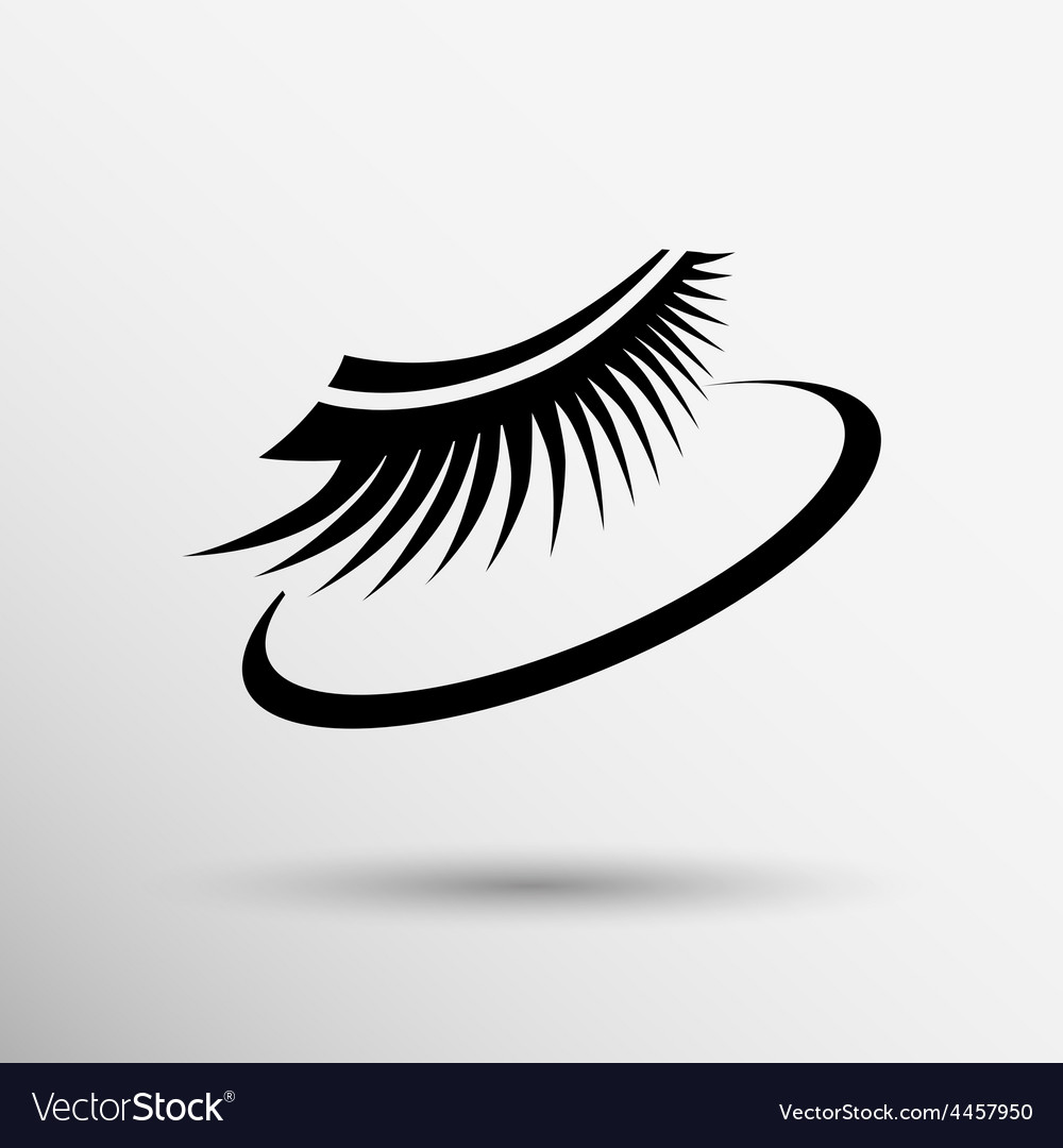 False lashes isolated eyelash fake eye woman up vector | Price: 1 Credit (USD $1)