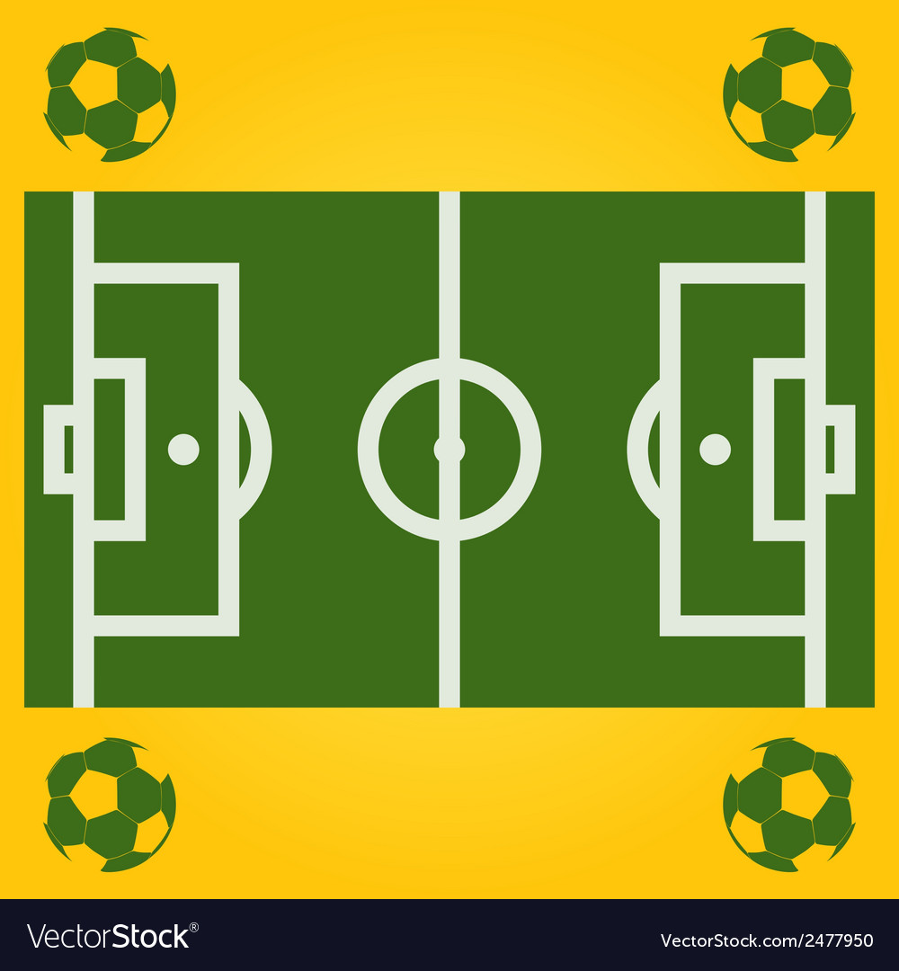 Football field with ball vector | Price: 1 Credit (USD $1)