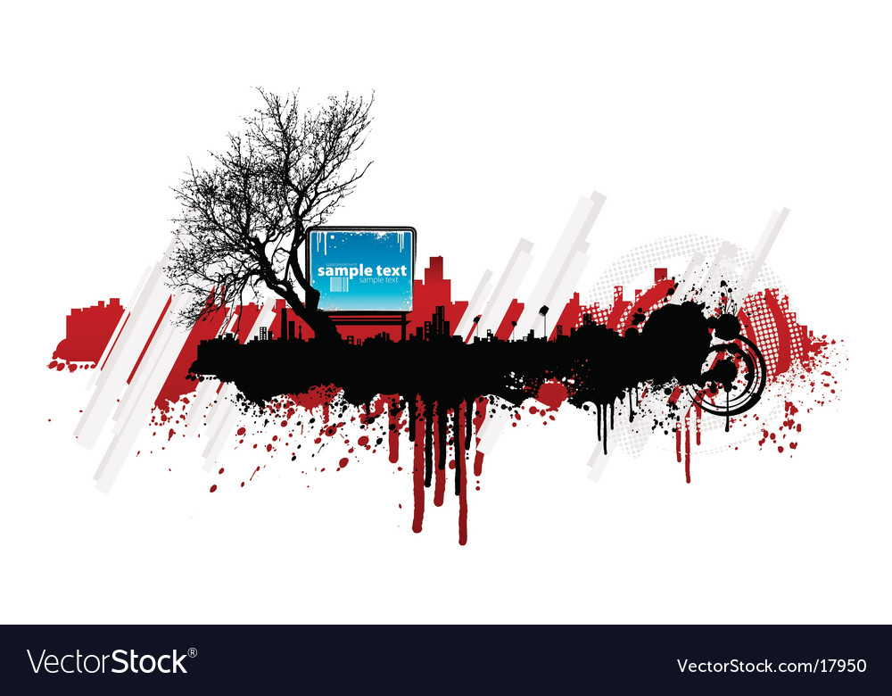 Grunge splatter urban design element vector | Price: 1 Credit (USD $1)