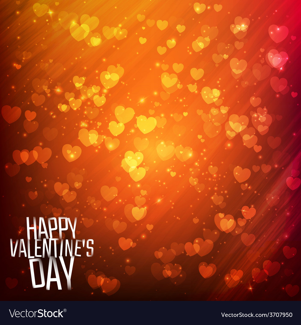 Happy valentines day background with shining vector | Price: 1 Credit (USD $1)