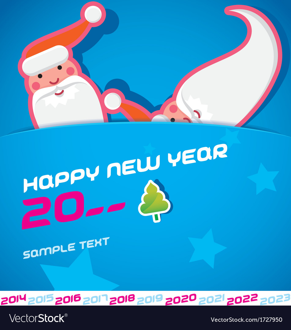 Merry christmas santa claus  new year card vector | Price: 1 Credit (USD $1)