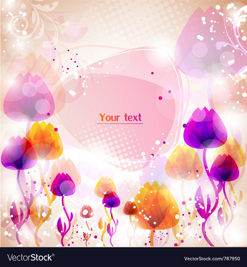 Multicolor flower background with space for text vector | Price: 1 Credit (USD $1)