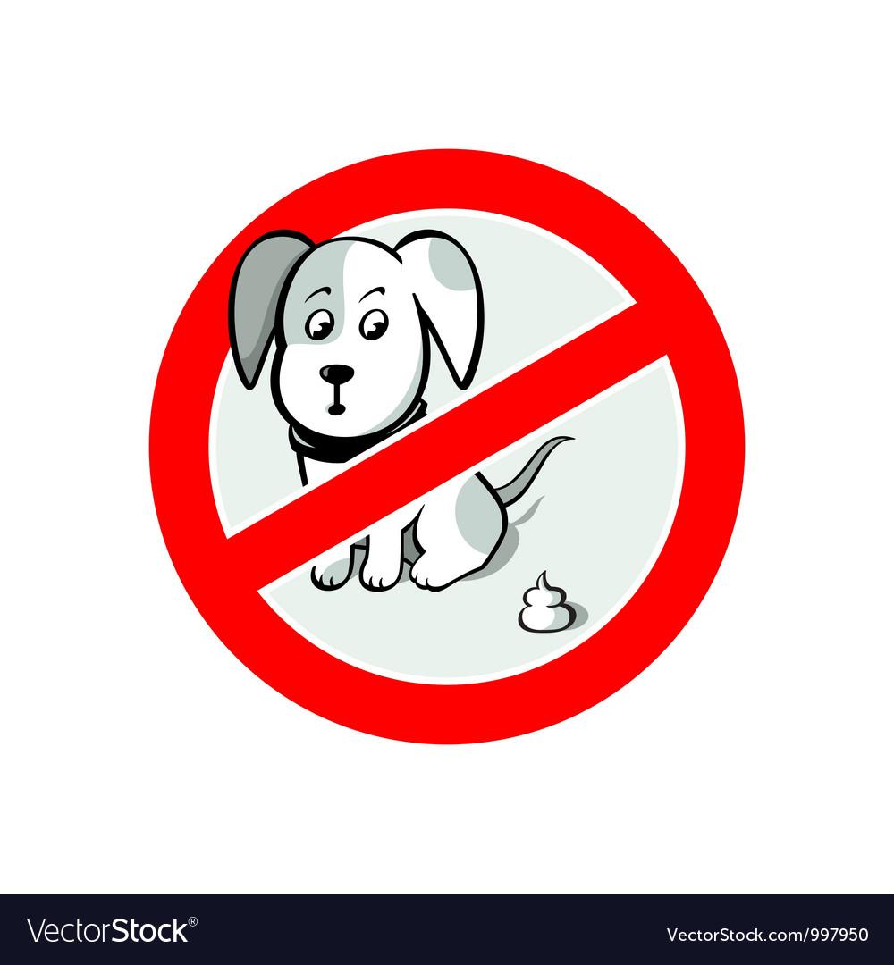 No pooh sign vector | Price: 1 Credit (USD $1)