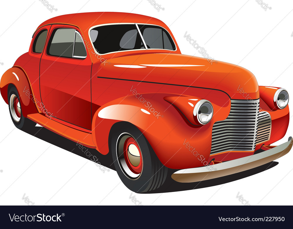 Old-fashioned hot rod vector | Price: 3 Credit (USD $3)