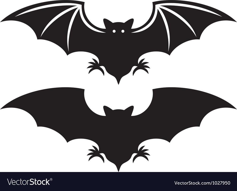 Silhouette of bat vector | Price: 1 Credit (USD $1)