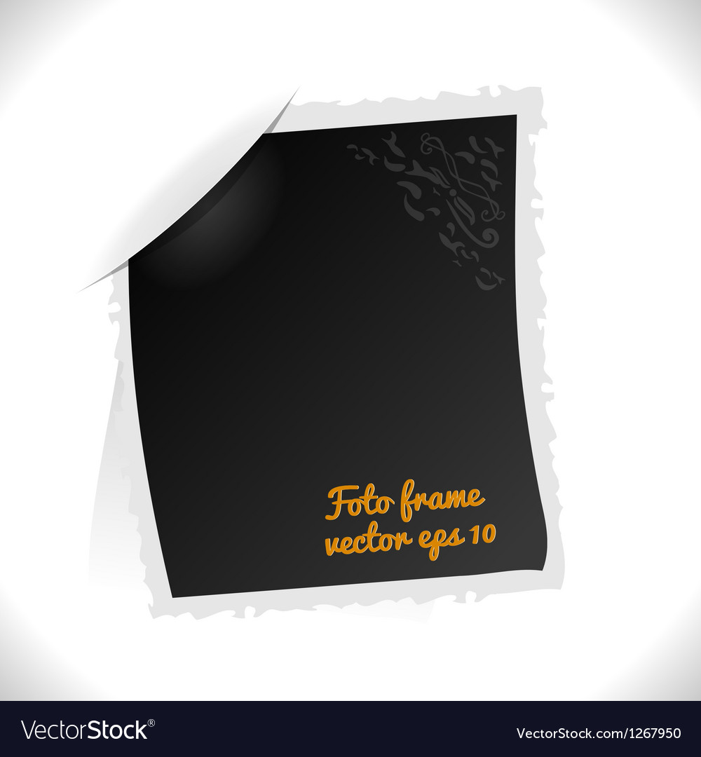 Vintage foto frame vector | Price: 1 Credit (USD $1)