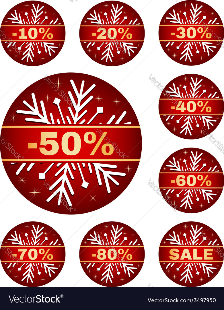 Winter sale tags vector | Price: 1 Credit (USD $1)