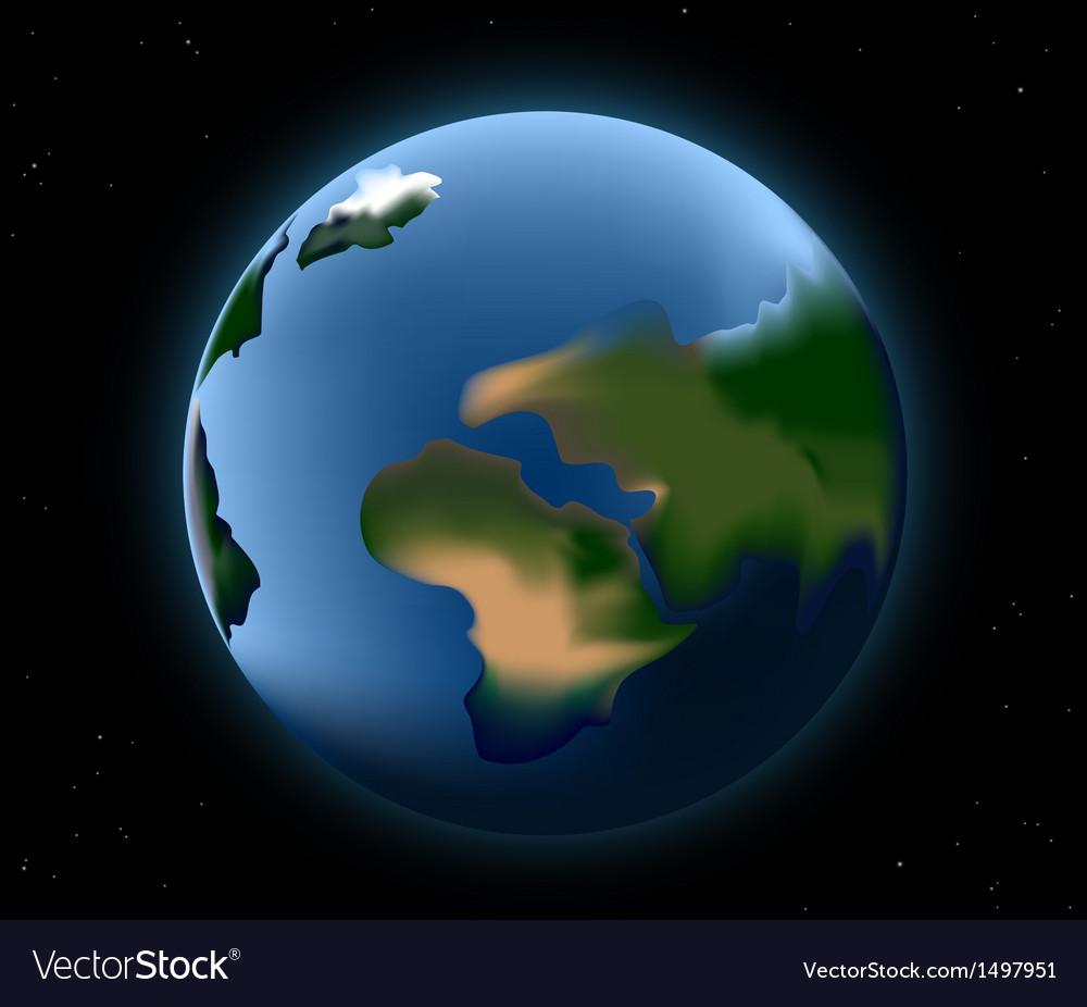 Beautiful earth vector | Price: 1 Credit (USD $1)