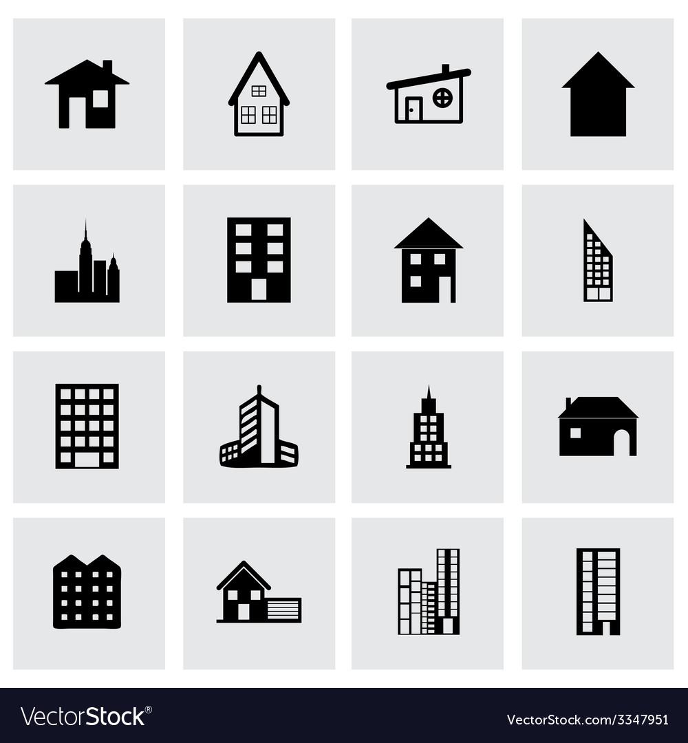 Building icon set vector   Price: 1 Credit (USD $1)