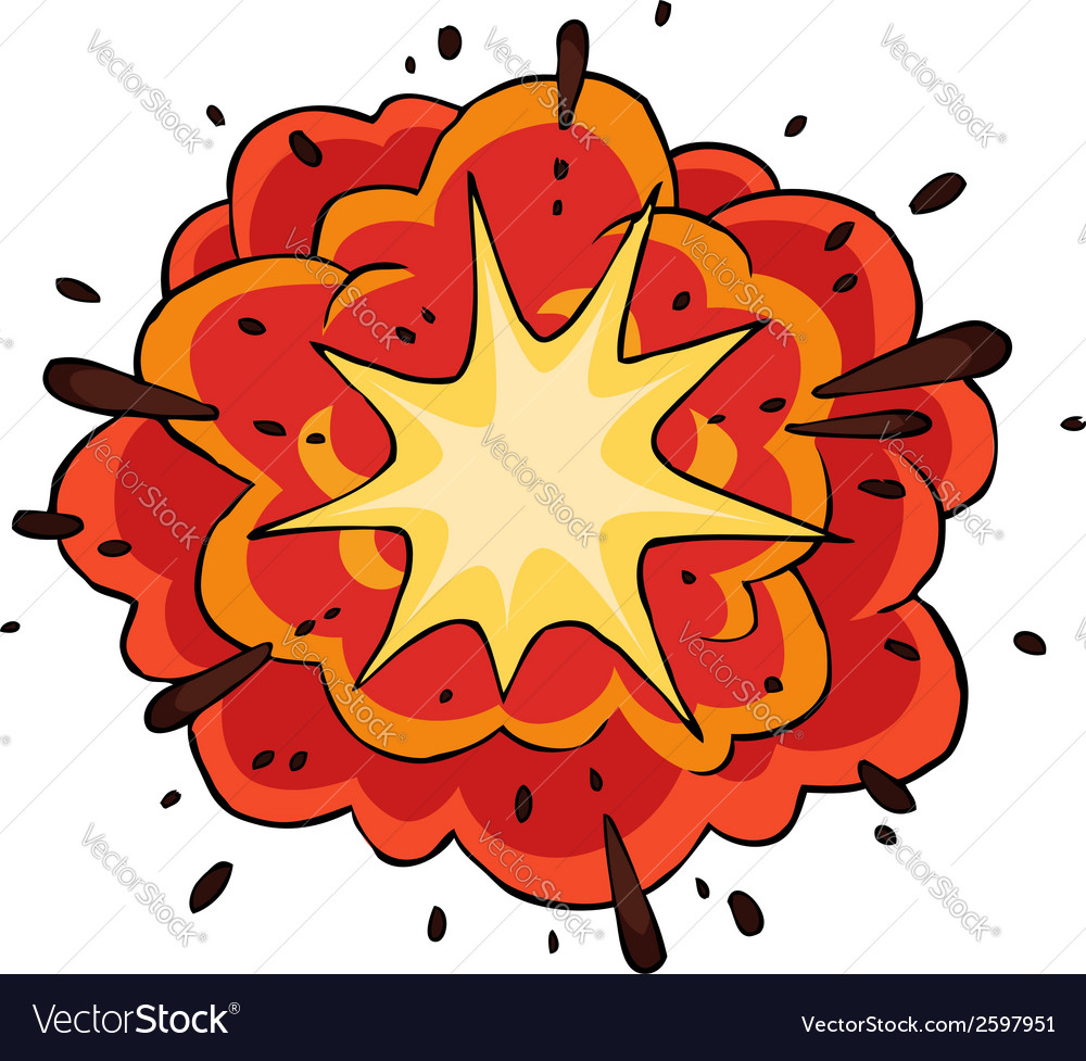 Fiery explosion vector | Price: 1 Credit (USD $1)
