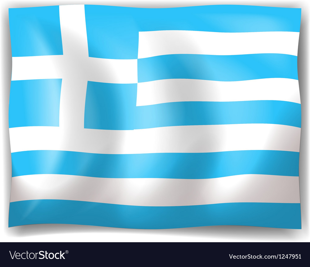 Flag of greece vector   Price: 1 Credit (USD $1)