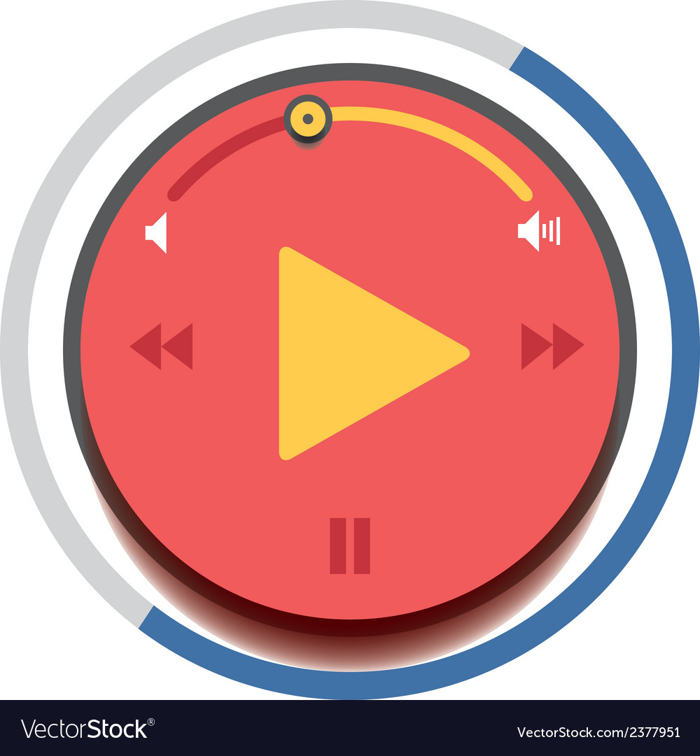 Music player control interfrace 4 vector | Price: 1 Credit (USD $1)