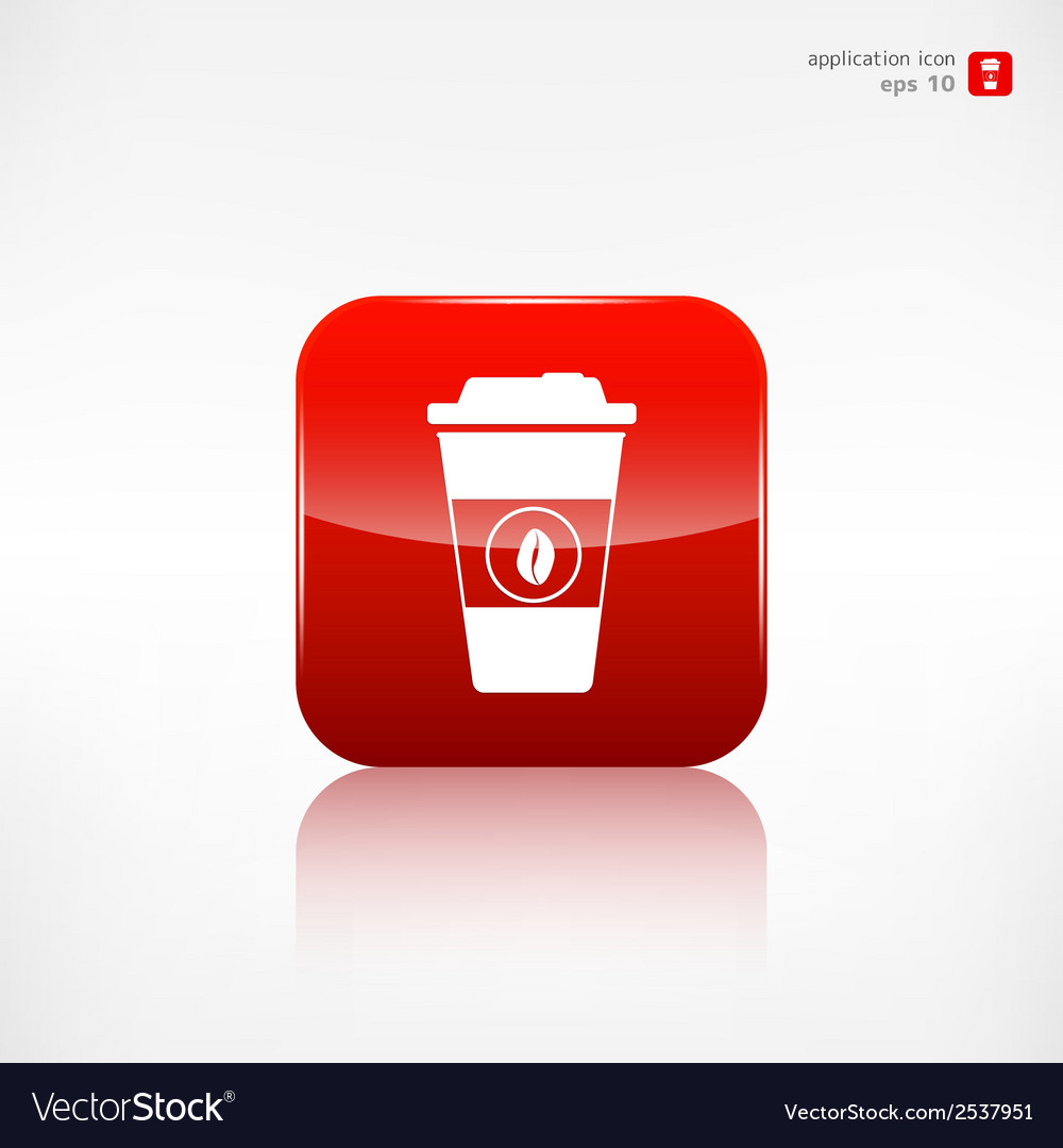 Takeaway paper coffee cup icon vector | Price: 1 Credit (USD $1)