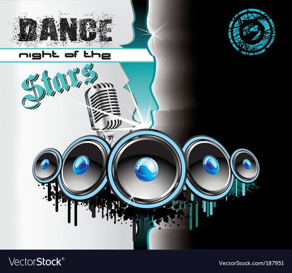 Techno dance background vector | Price: 3 Credit (USD $3)