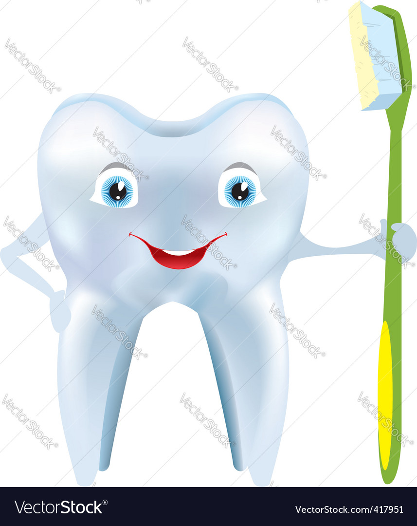 Tooth smile vector | Price: 1 Credit (USD $1)