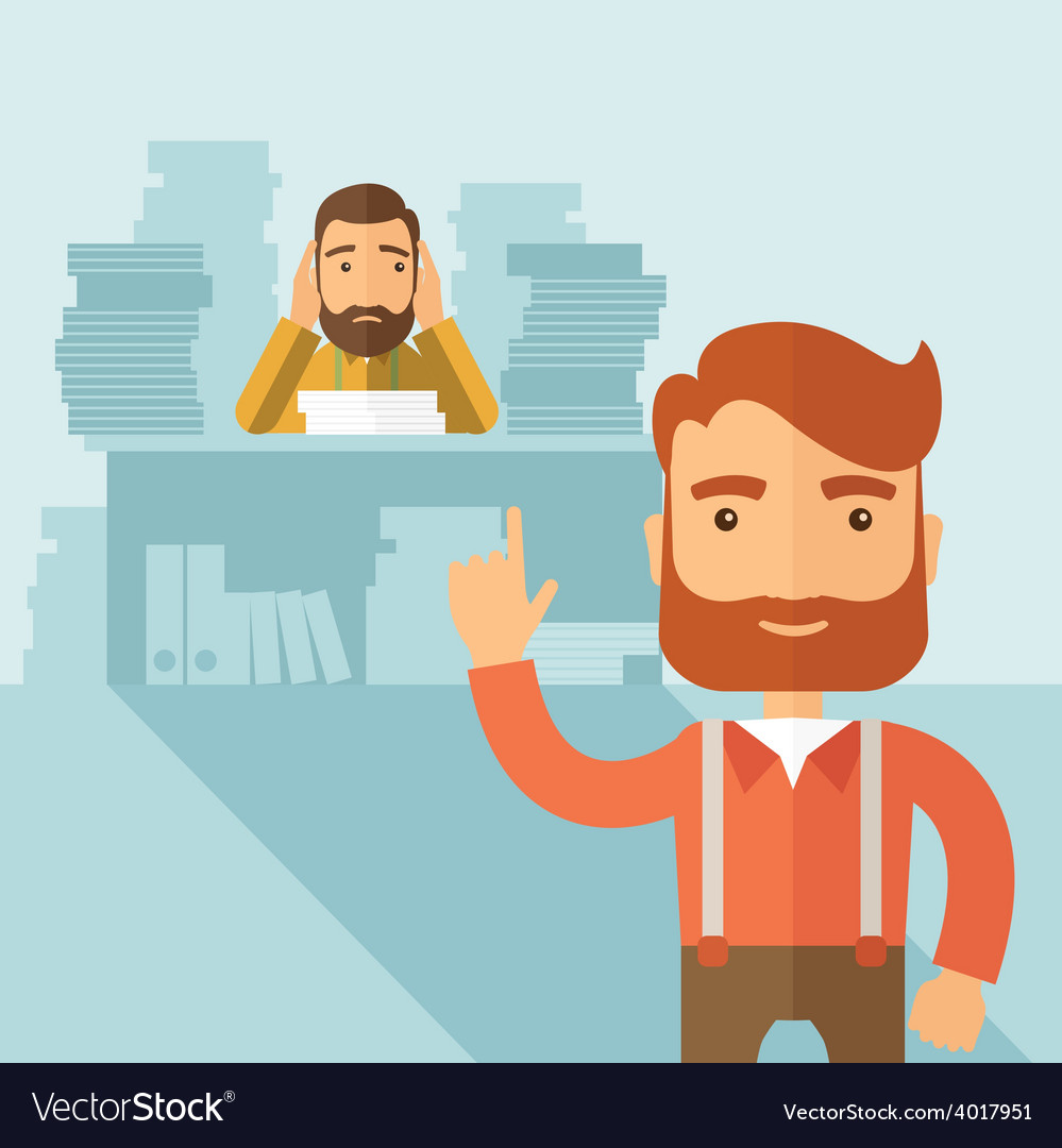 Tough office job vector | Price: 1 Credit (USD $1)