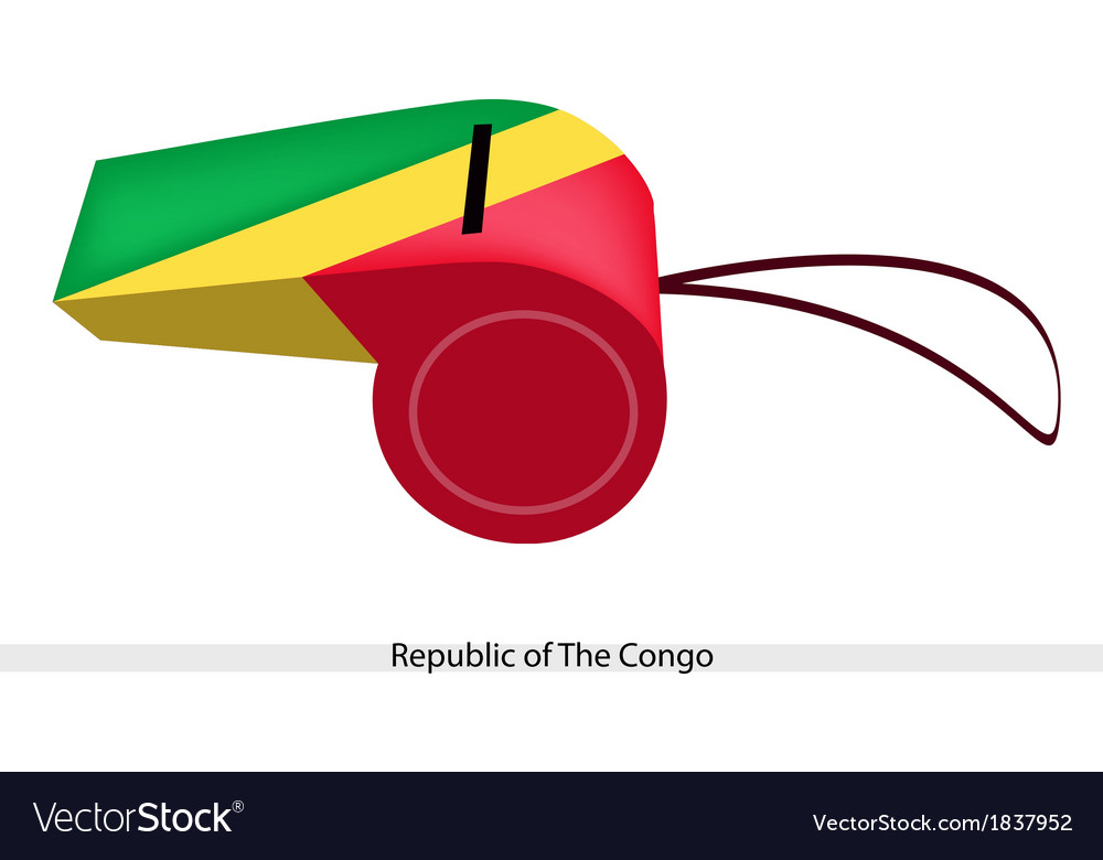 A whistle of republic of the congo vector | Price: 1 Credit (USD $1)
