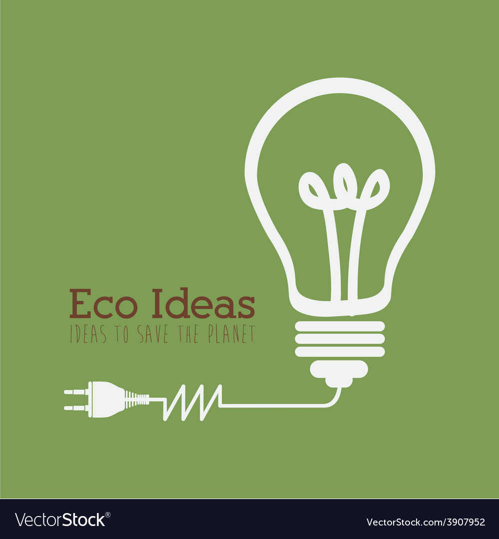 Ecology design over green background vector | Price: 1 Credit (USD $1)
