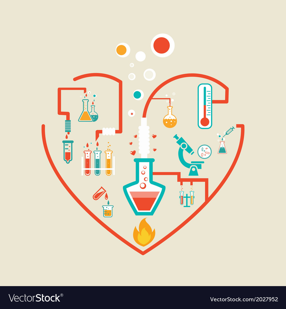 Love chemistry vector | Price: 1 Credit (USD $1)