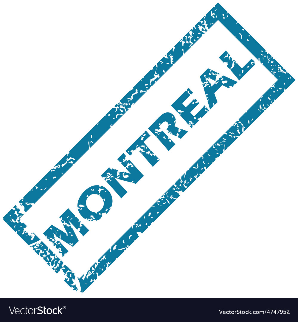 Montreal rubber stamp vector | Price: 1 Credit (USD $1)