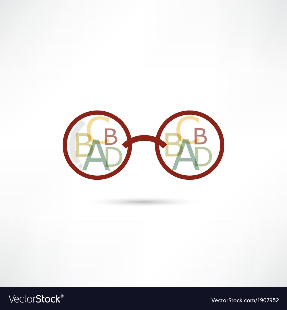 Reading glasses icon vector | Price: 1 Credit (USD $1)
