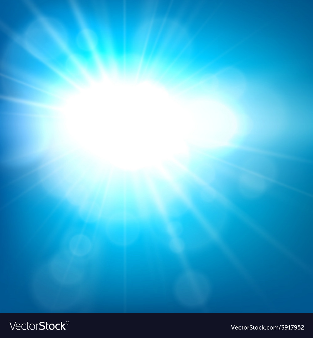 Summer view blurry blue sky background vector | Price: 1 Credit (USD $1)
