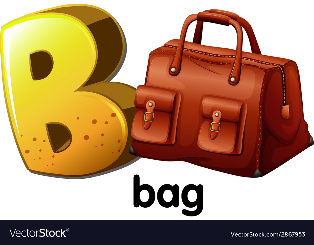 A letter b for bag vector | Price: 1 Credit (USD $1)
