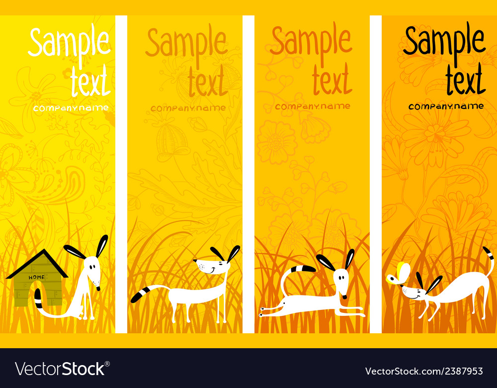 Banners with dogs vector | Price: 1 Credit (USD $1)