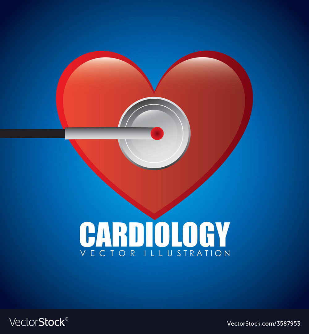 Cardiology icon vector   Price: 1 Credit (USD $1)