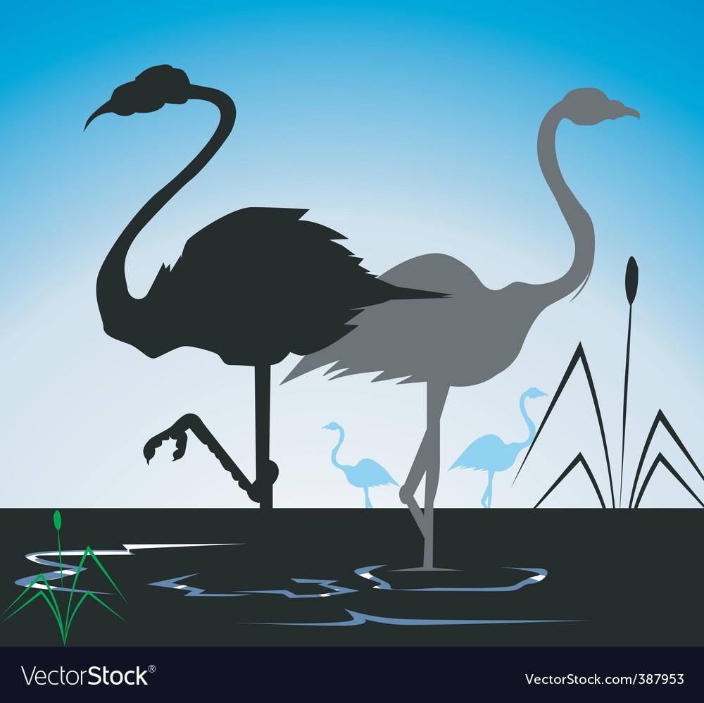 Cranes vector | Price: 1 Credit (USD $1)