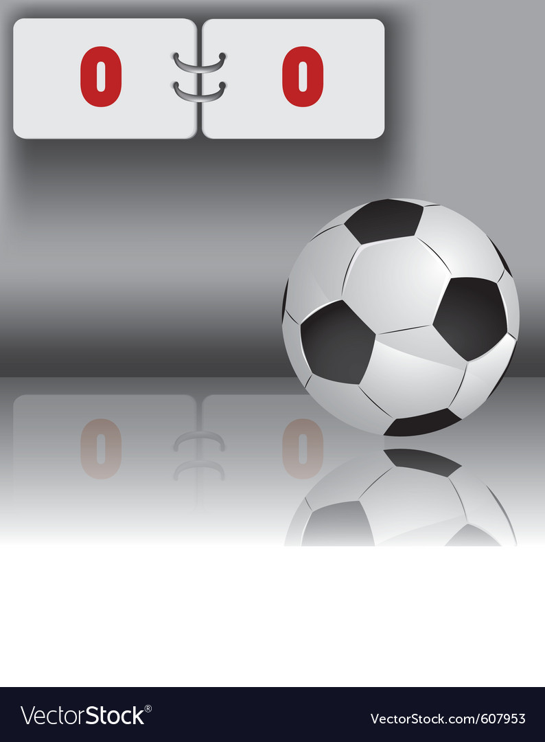 Football ball with panel for score vector | Price: 1 Credit (USD $1)