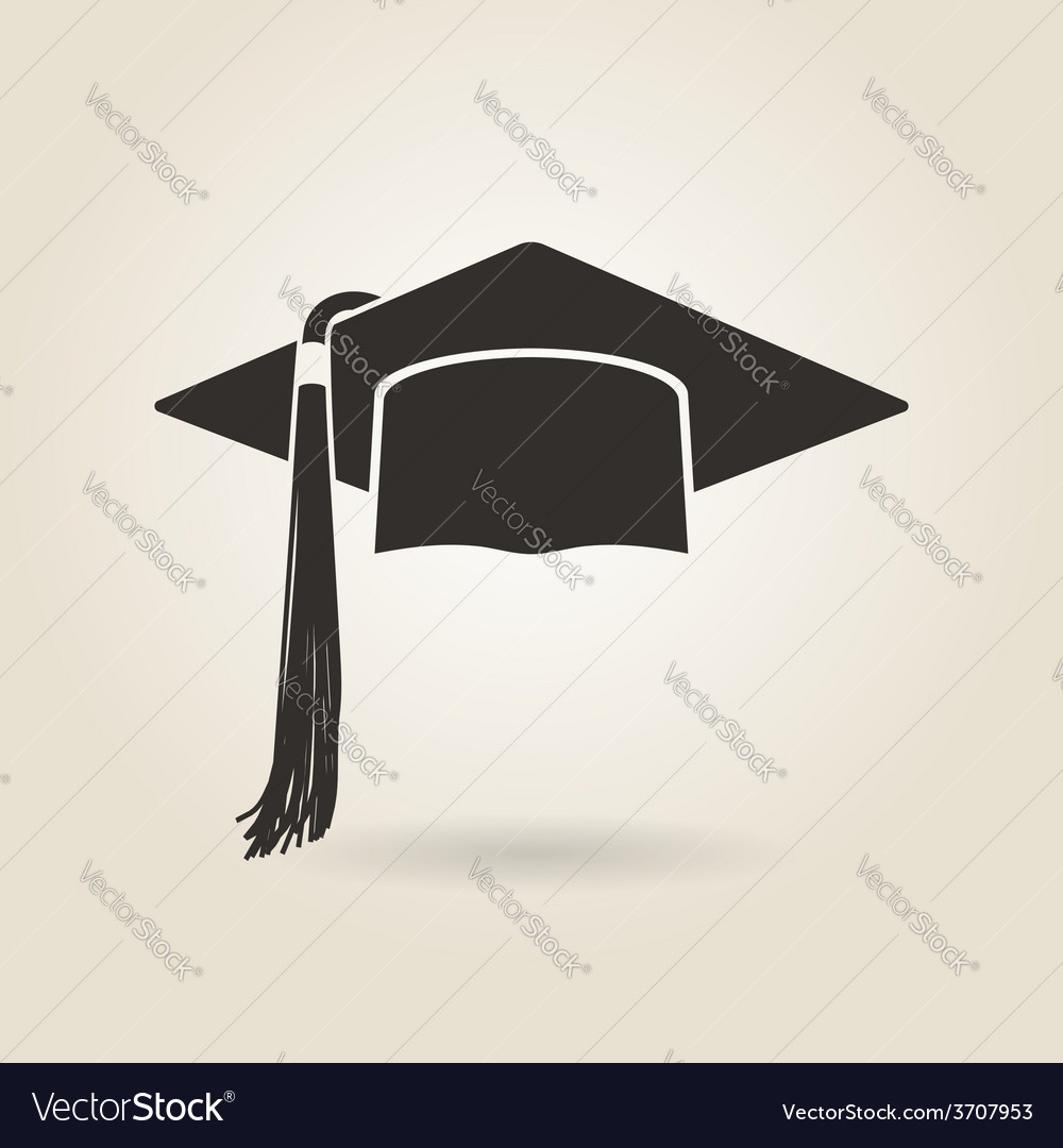 Graduate cap icon vector | Price: 1 Credit (USD $1)