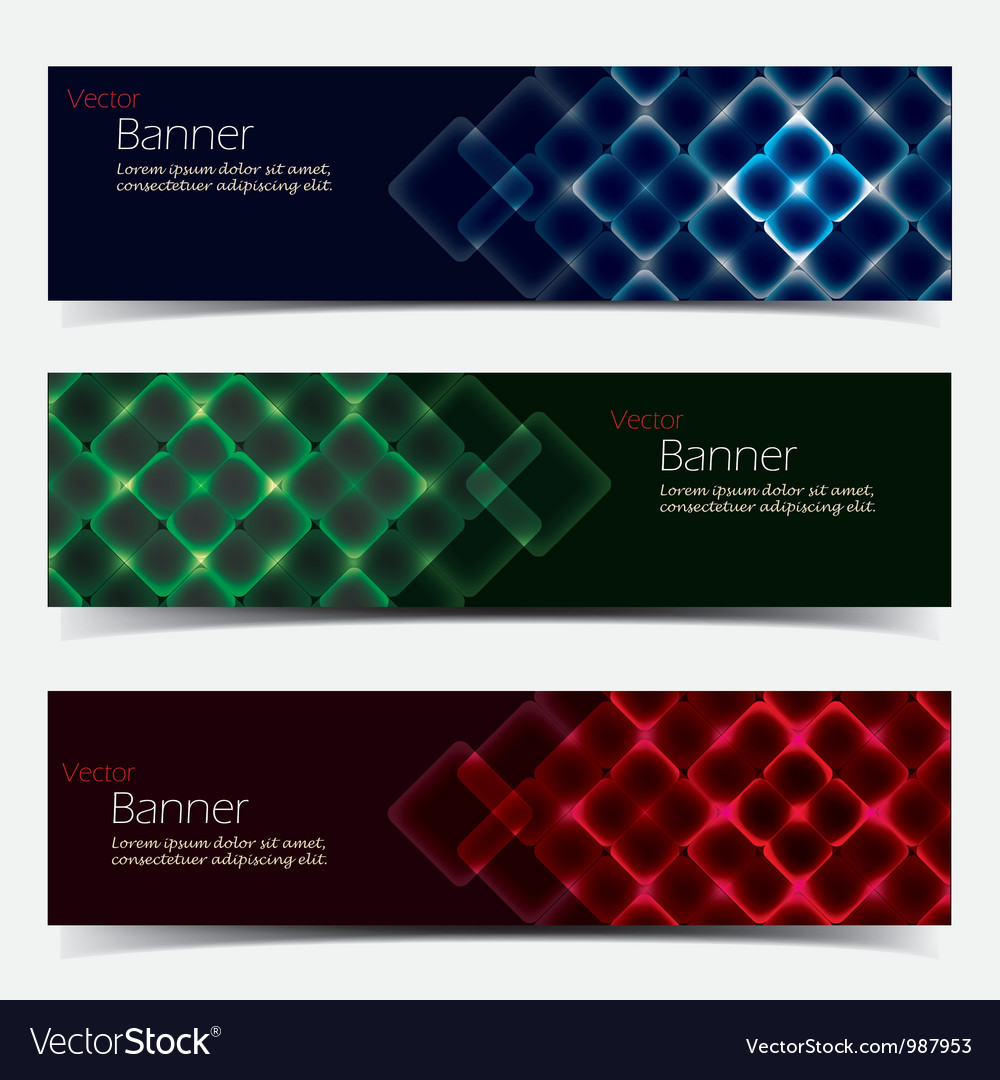 Horizontal banner set vector | Price: 1 Credit (USD $1)
