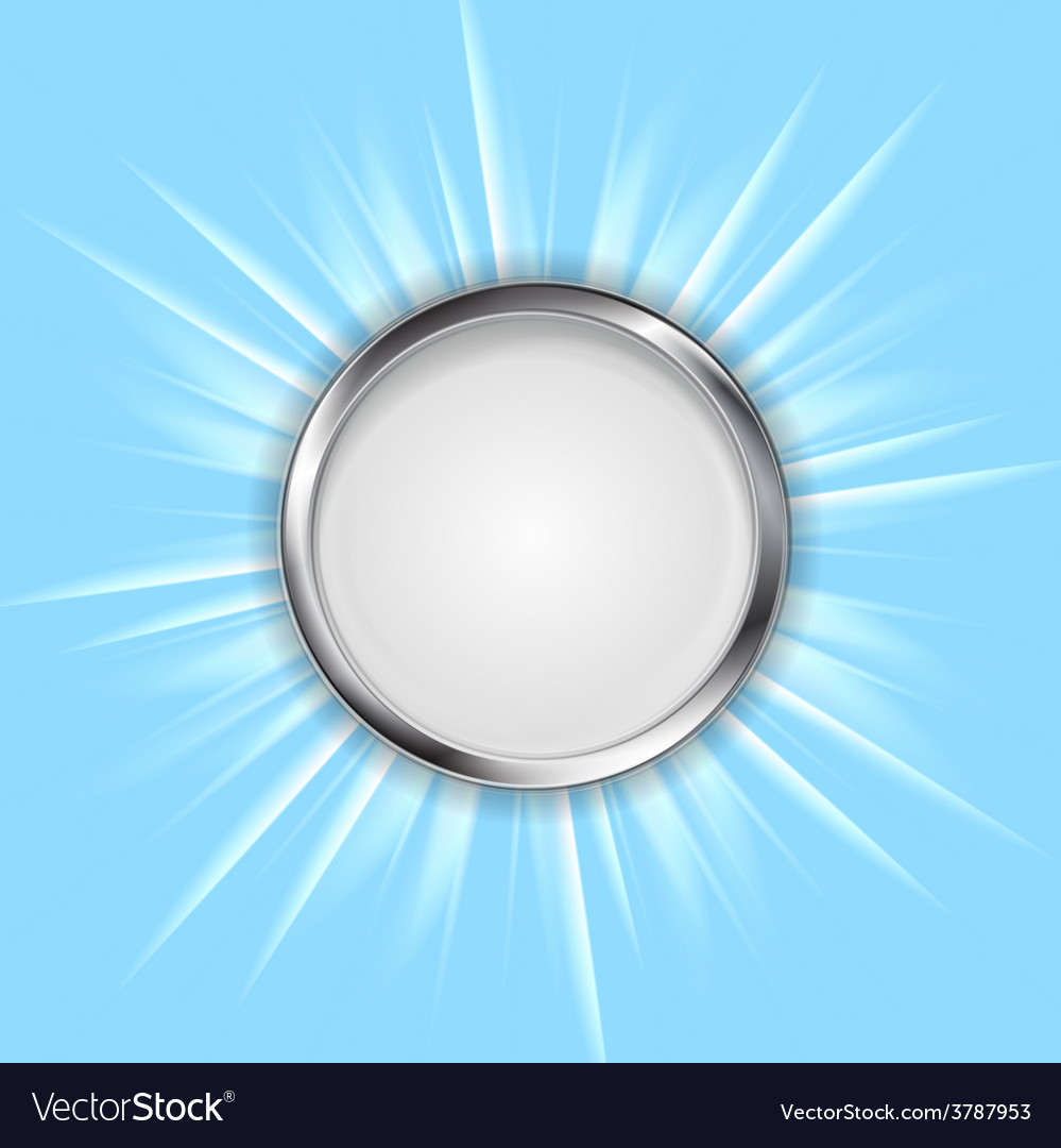 Metal circle and shiny sun vector | Price: 1 Credit (USD $1)
