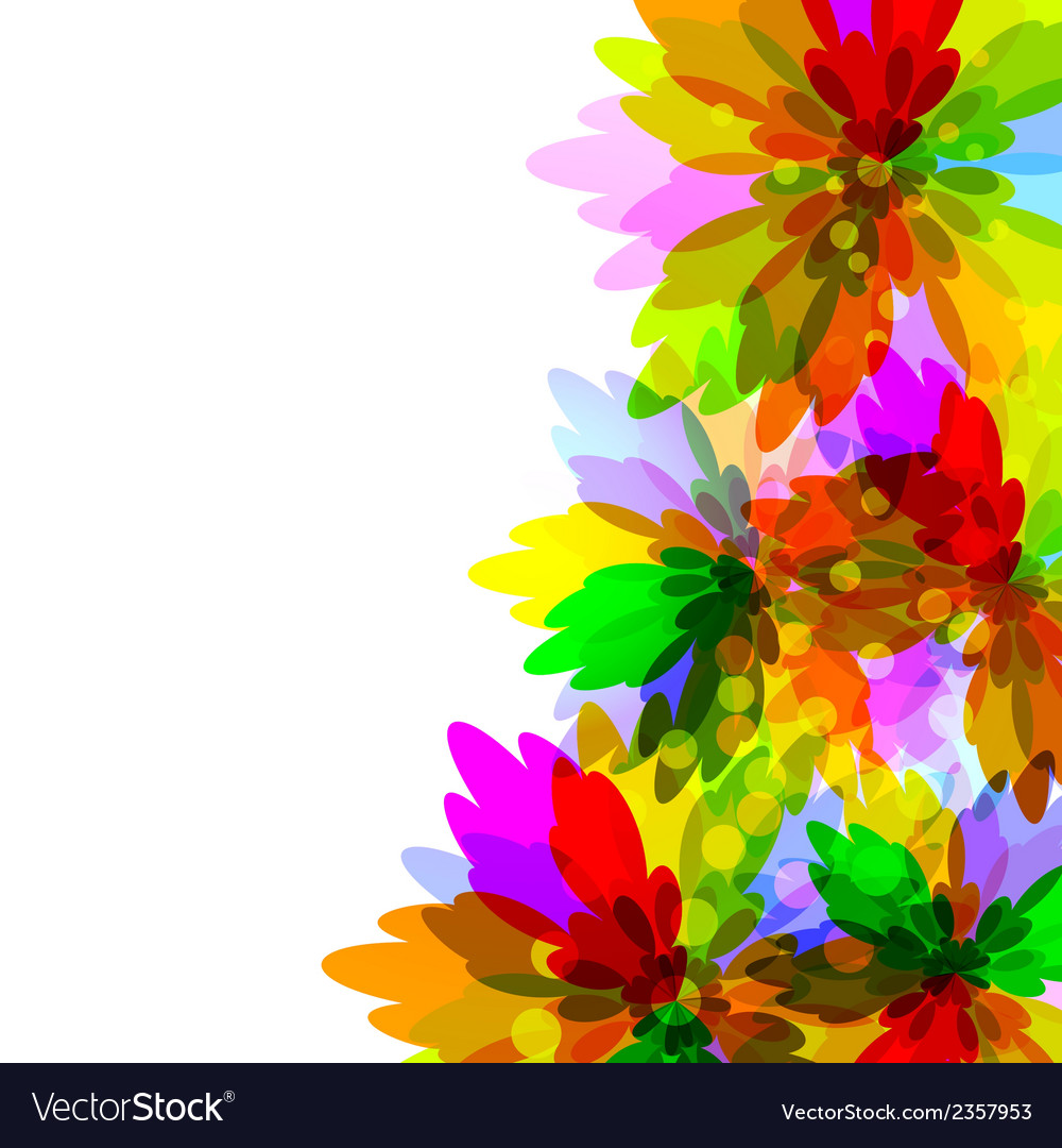 Motley flower background vector | Price: 1 Credit (USD $1)