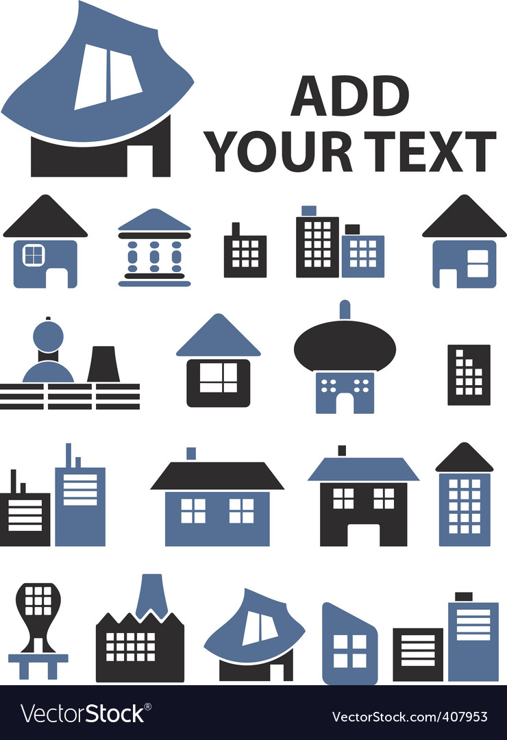 Real estate signs vector | Price: 1 Credit (USD $1)