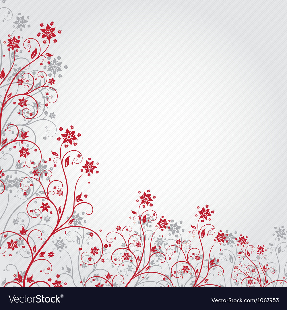 Red grunge flower vector | Price: 1 Credit (USD $1)