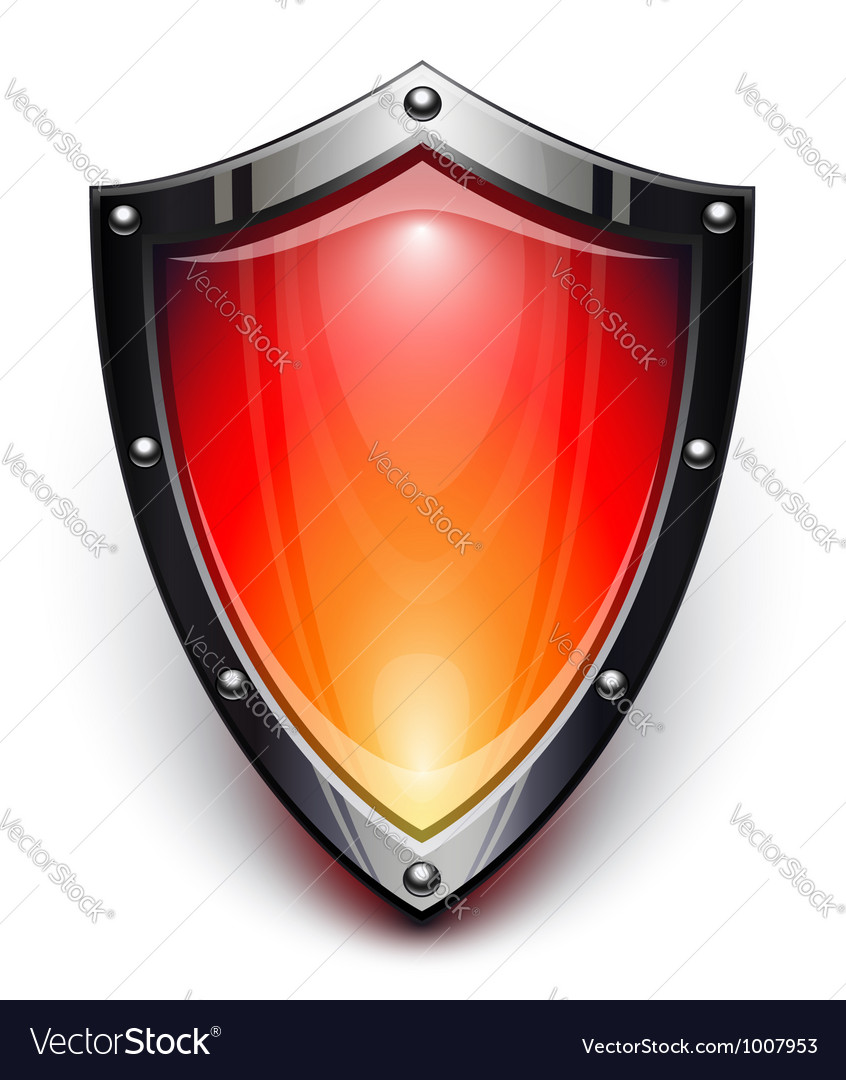 Red security shield vector | Price: 3 Credit (USD $3)