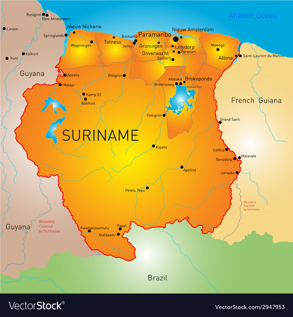 Suriname vector | Price: 1 Credit (USD $1)