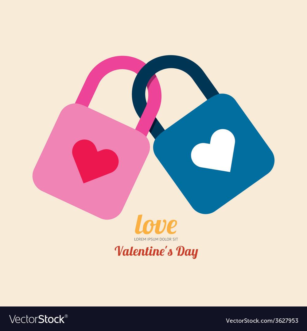 Valentine heart lock symbol vector | Price: 1 Credit (USD $1)