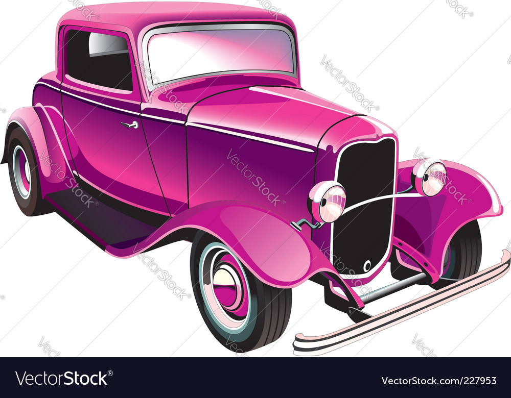 Vintage muscle car vector | Price: 3 Credit (USD $3)