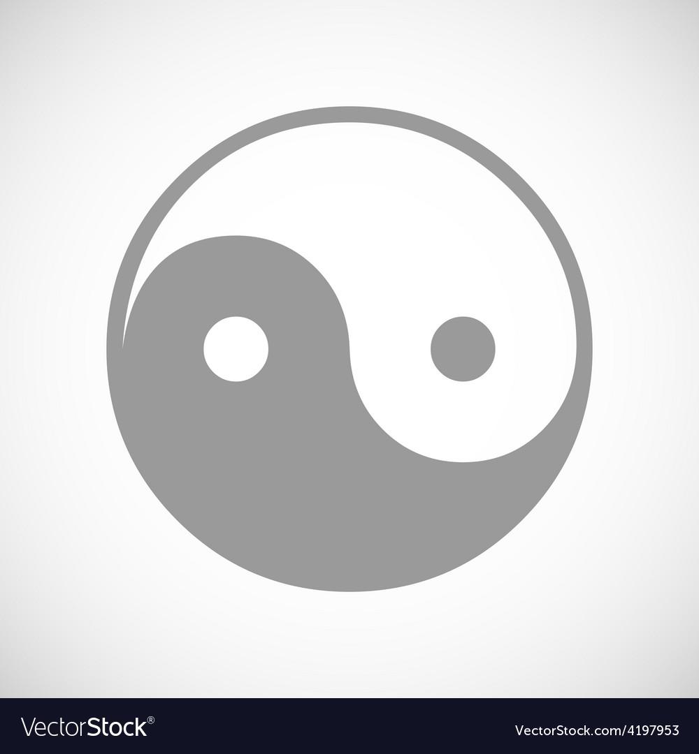 Yin yang black icon vector | Price: 1 Credit (USD $1)
