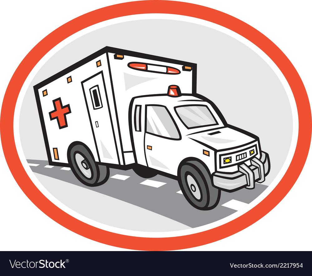 Ambulance emergency vehicle cartoon vector | Price: 1 Credit (USD $1)