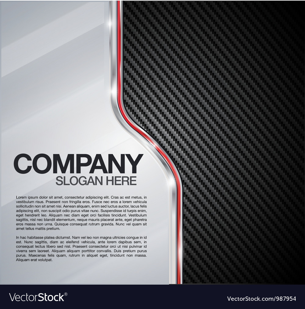 Automotive chrome carbon fiber background vector