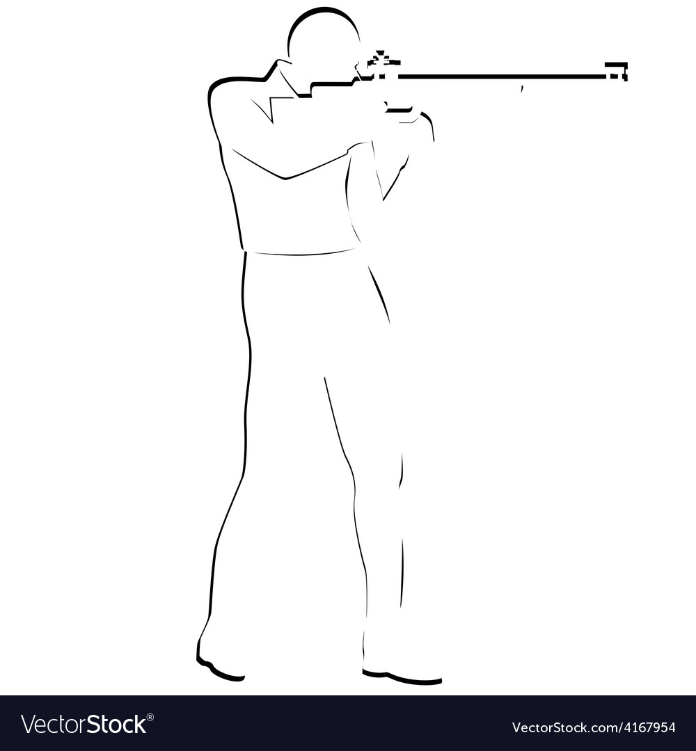 Bullet shooting rifle shooting vector | Price: 1 Credit (USD $1)