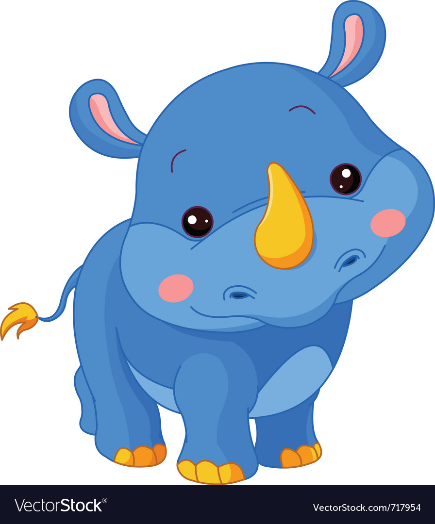 Cartoon rhino vector | Price: 1 Credit (USD $1)