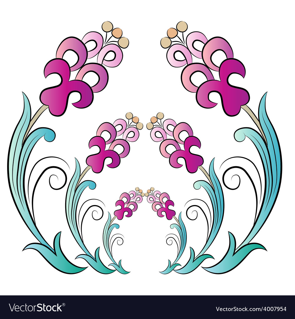 Flowers in the ottoman art three vector | Price: 1 Credit (USD $1)